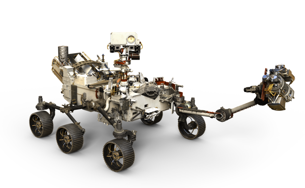 Artist's depiction of the Perseverance Rover.